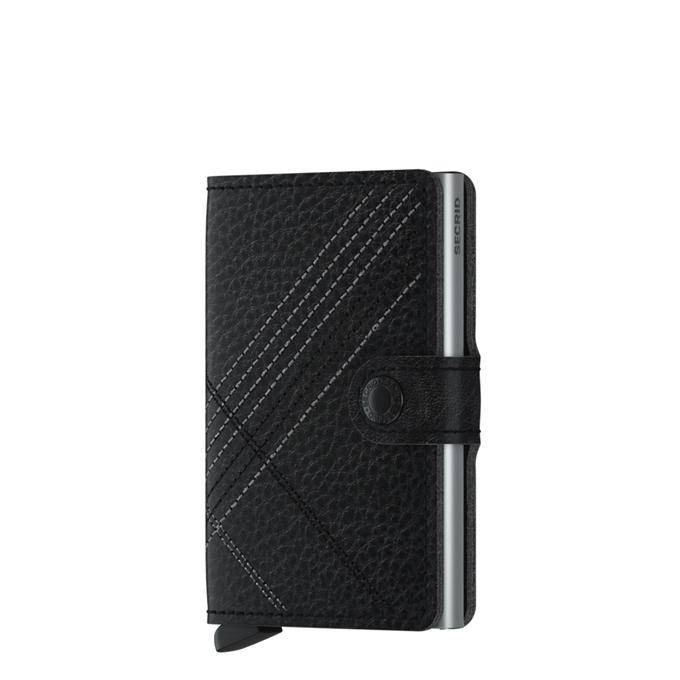 Secrid Miniwallet Portemonnee stitch linea black - 1