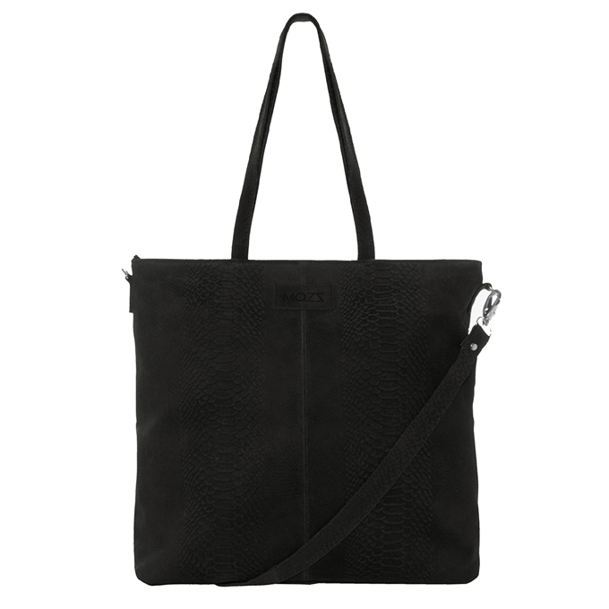 Mozz Momsbag Snake Shopper black - 1
