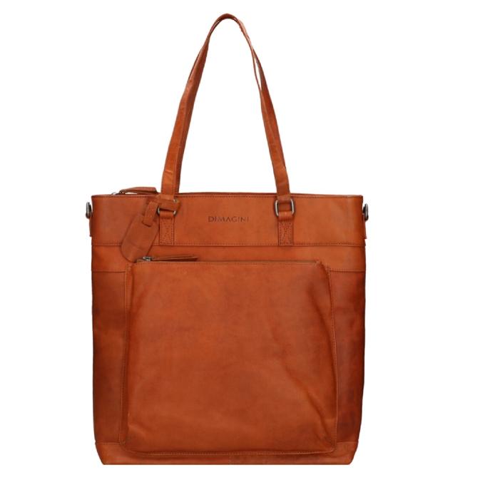 "Dimagini Classics 15"" Leather Business Shopper cognac - 1"