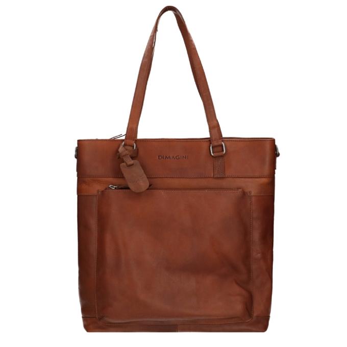 "Dimagini Classics 15"" Leather Business Shopper brown - 1"