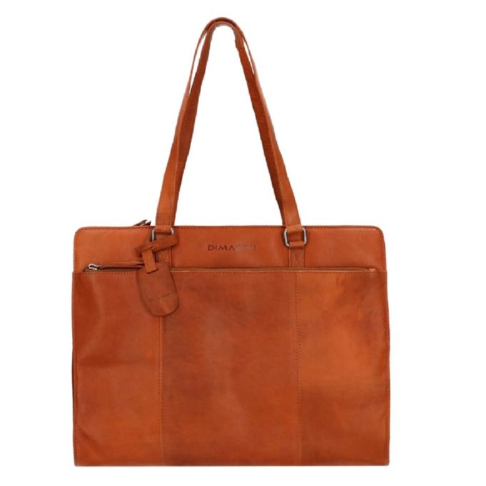 """Dimagini Classics 15,6"""" Leather Businessbag cognac - 1"""