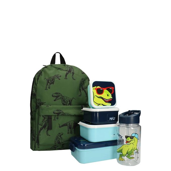 Kidzroom Dino Rugzak met Lunchbox/Drinkbeker/Snackbox groen