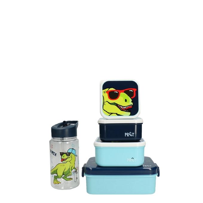 Kidzroom Dino Set Lunchbox/Drinkbeker/Snackbox blauw - 1
