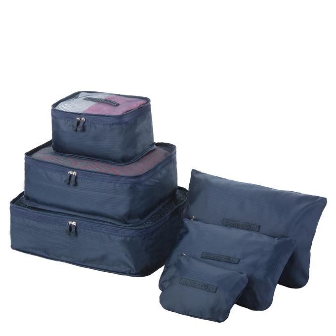 CarryOn Accessoires Packing Cube Set van 6 blauw