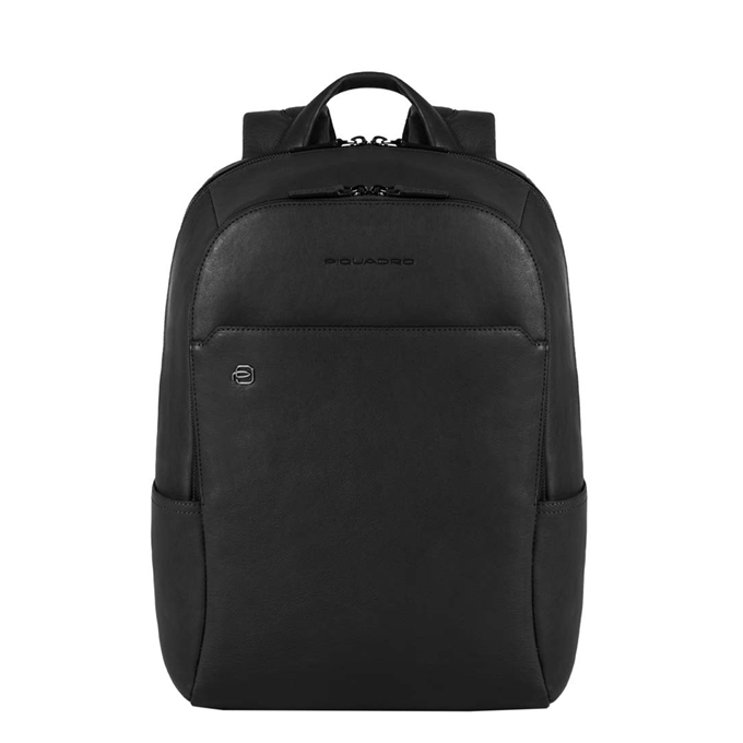 Piquadro Black Square Computer Backpack with iPad Compartment black II
