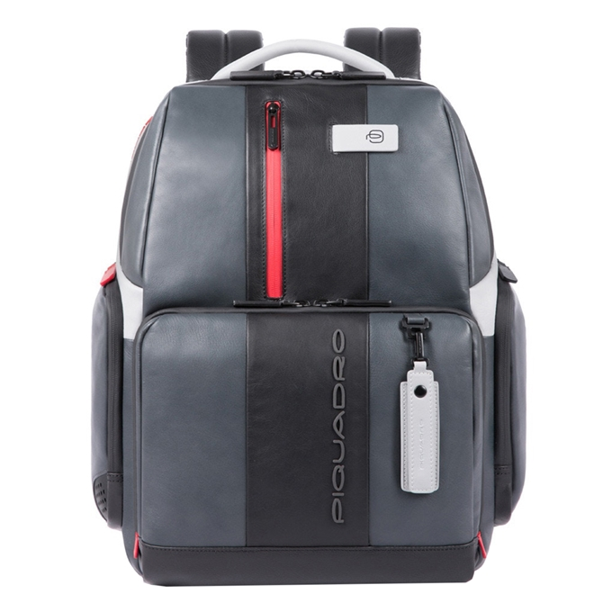 Piquadro Urban Fast-check PC Backpack with iPad Compartment grey-black