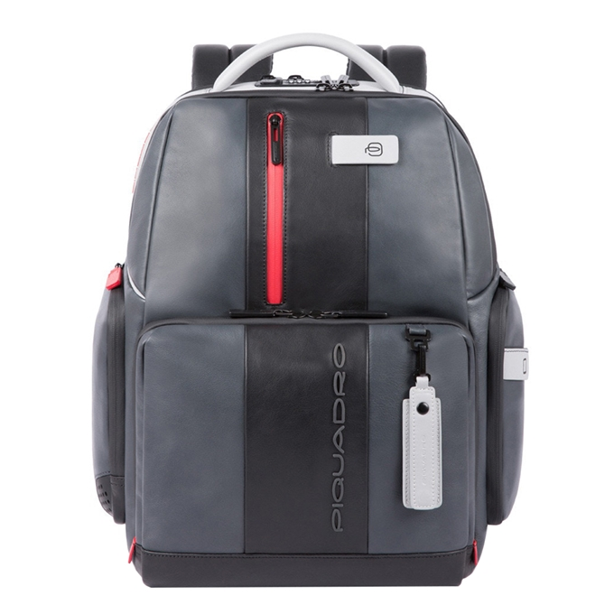 Piquadro Urban PC and iPad Backpack with Anti theft cable grey black