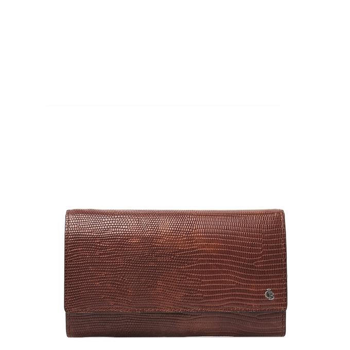 Castelijn & Beerens Donna Damesportemonnee Overslag 6 Pasjes RFID cognac - 1