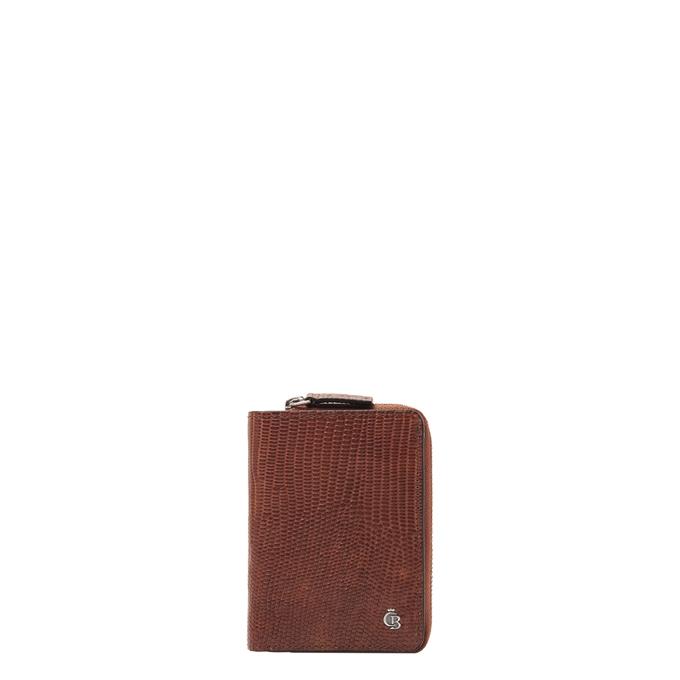 Castelijn & Beerens Donna Damesportemonnee Ritsvak 4 Pasjes RFID cognac - 1