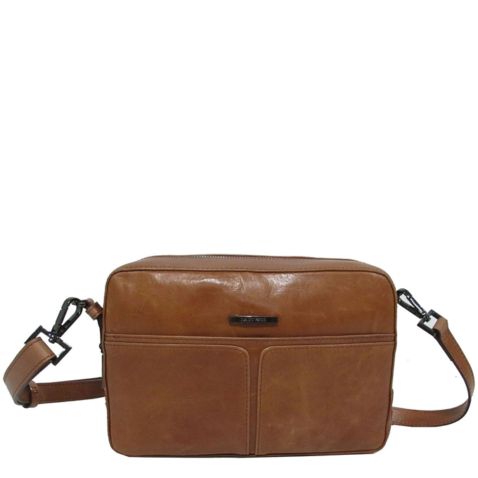 Claudio Ferrici Pelle Vecchia Shoulder Bag cognac V