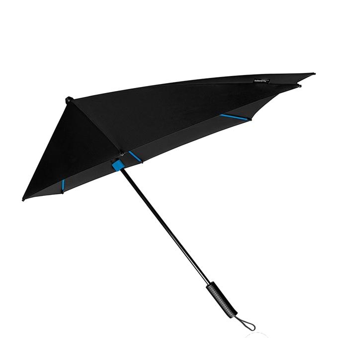 Impliva STORMaxi Aerodynamische Stormparaplu Special Edition zwart / blauw - 1