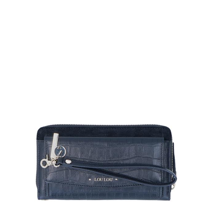 LouLou Essentiels Classy Croc Wallet dark blue - 1