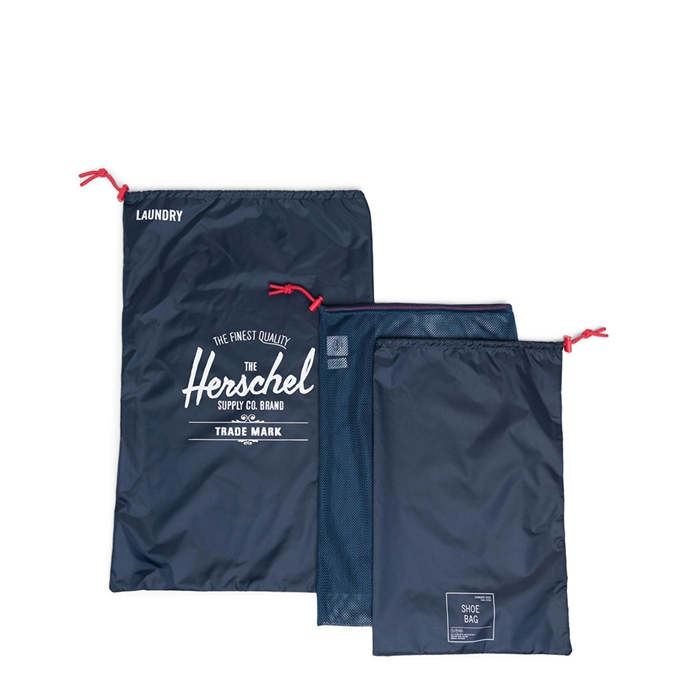 Herschel Supply Co. Travel Accessories Laundry/Shoe Set navy red - 1