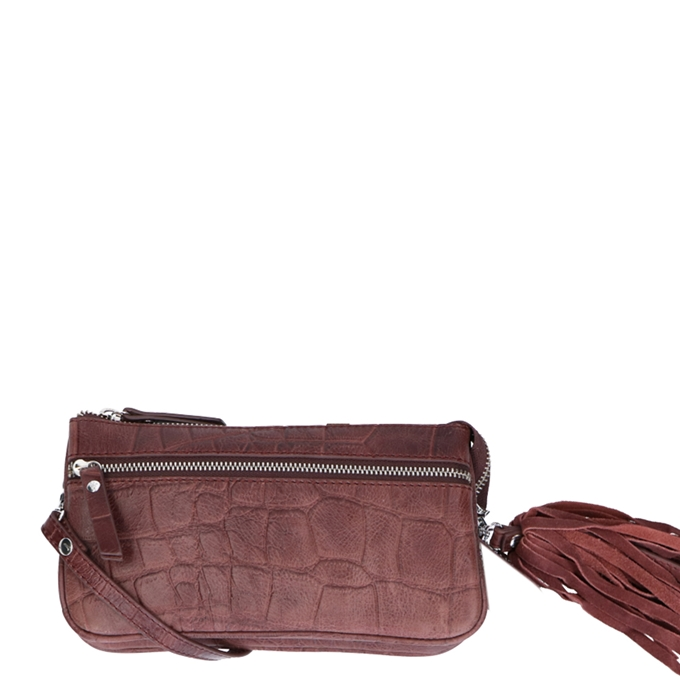 LouLou Essentiels Vintage Croco Shoulderbag S bordeaux - 1