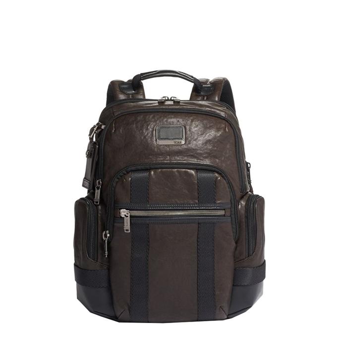 Tumi Alpha Bravo Leather Nathan Backpack dark brown - 1