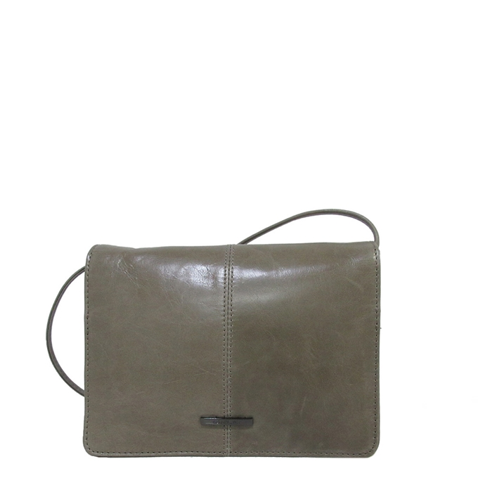 Claudio Ferrici Pelle Vecchia Wallet on a String taupe
