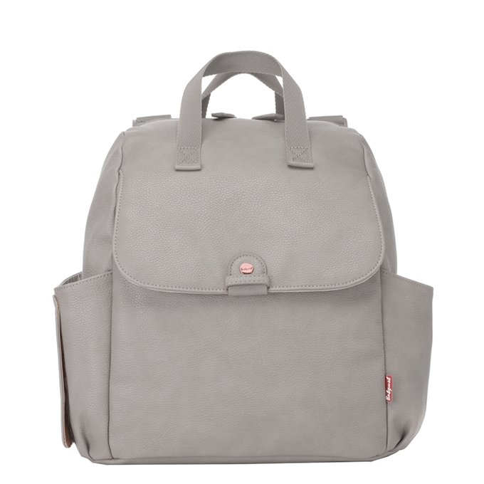 Babymel Robyn Convertible Backpack faux leather pale grey - 1