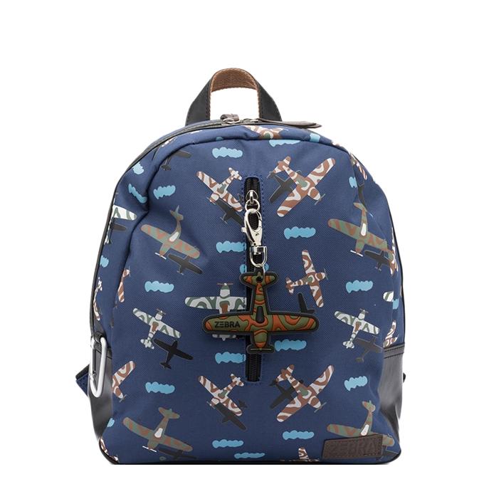 Zebra Trends Boys Rugzak Plane dark blue
