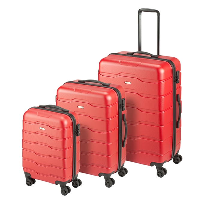 Princess Traveller Ottawa 3 Delige Kofferset red - 1