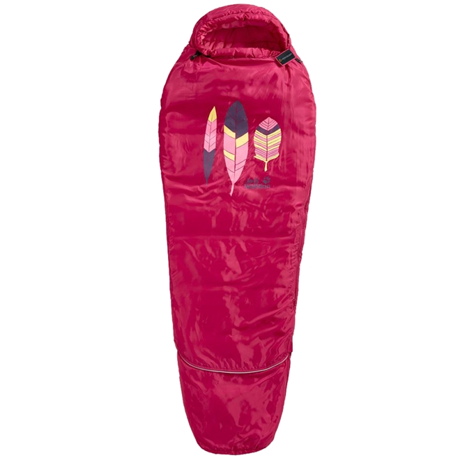 Jack Wolfskin Grow Up Kids Slaapzak azalea red - 1