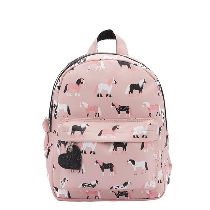Zebra Trends Girls Rugzak S Horses pink - 1
