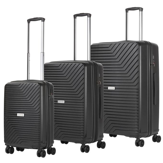 CarryOn Transport Trolleyset 3pcs black - 1