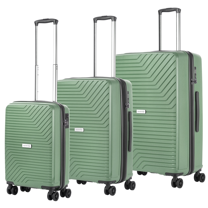 CarryOn Transport Trolleyset 3pcs olive - 1