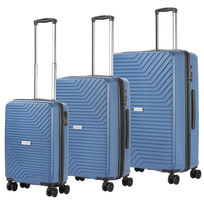 CarryOn Transport Trolleyset 3pcs blue - 1