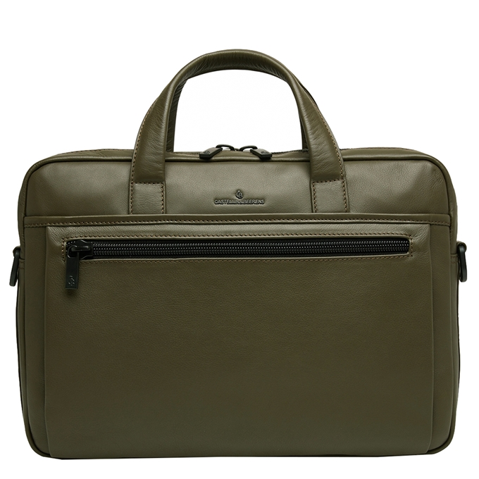 Castelijn & Beerens Nappa X Charlie Laptop / Tablet Tas 15.6'' dark millitary - 1