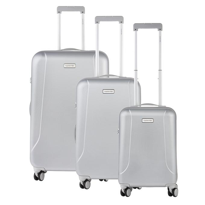 CarryOn Skyhopper Trolleyset 3pcs TSA silver - 1