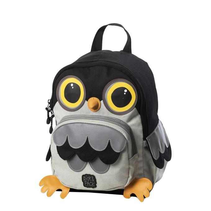 Pick & Pack Owl Shape Backpack grey multi - 1