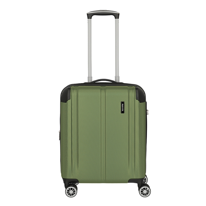 Travelite City 4 Wiel Trolley S Expandable green