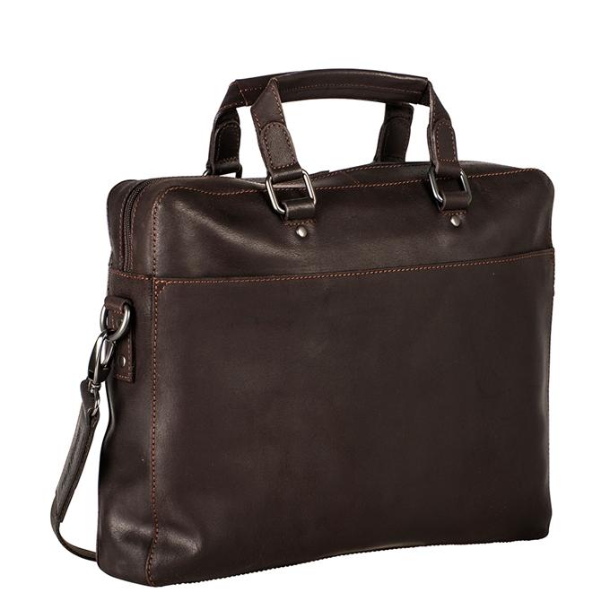 Leonhard Heyden Dakota Briefcase 1 Compartment kastanje - 1