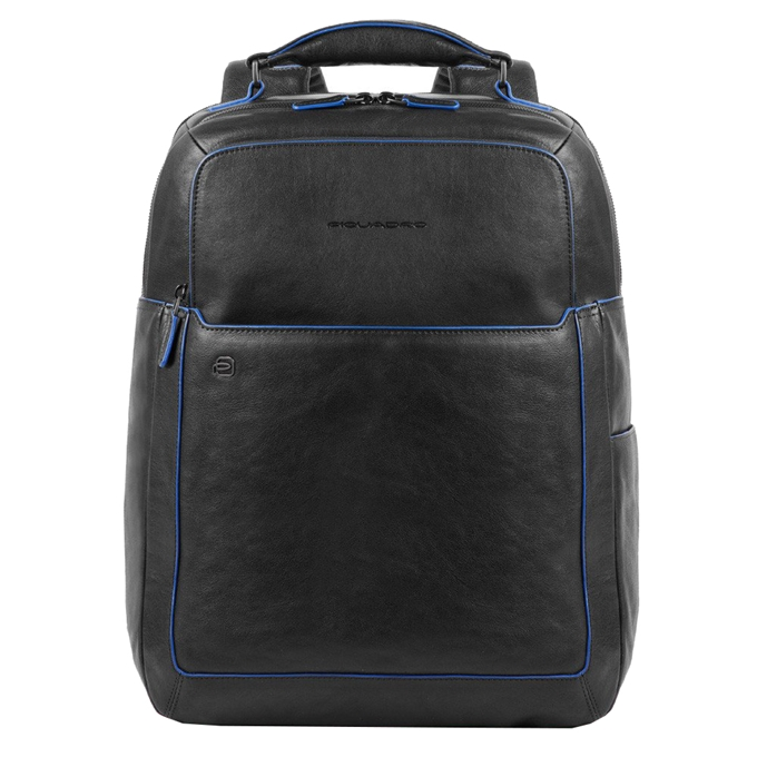 """Piquadro Blue Square Fast Check Computer Backpack with iPad 10.5"""" black"""