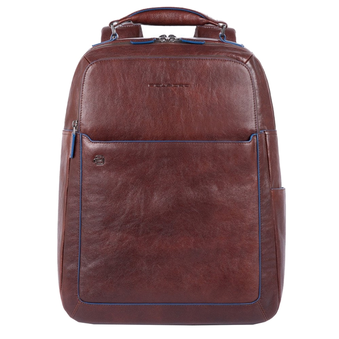 """Piquadro Blue Square Fast Check Computer Backpack with iPad 10.5"""" dark brown"""