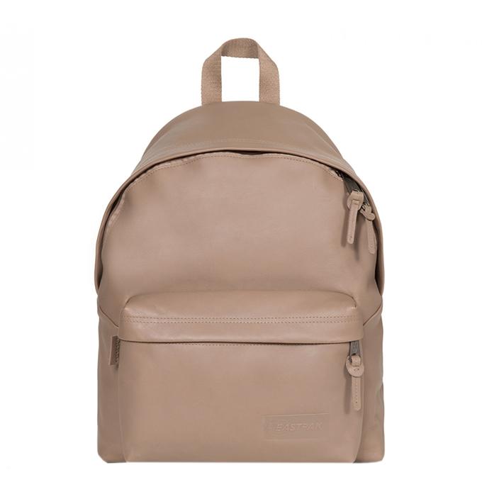 Eastpak Padded Pak'r Leather Laptop Rugzak taupe leather - 1