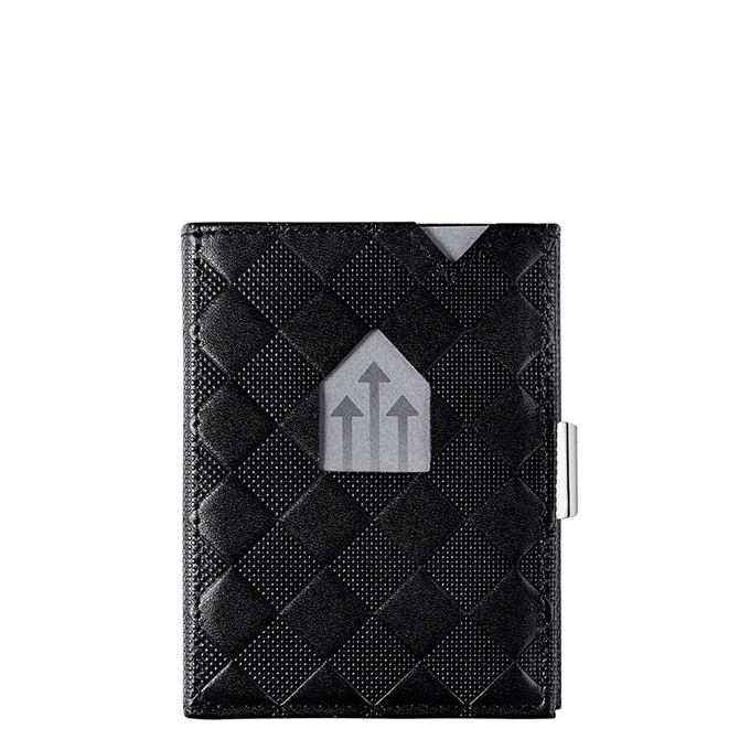 Exentri Leather Wallet RFID black chess