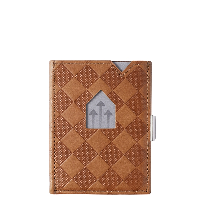 Exentri Leather Wallet RFID sand chess - 1