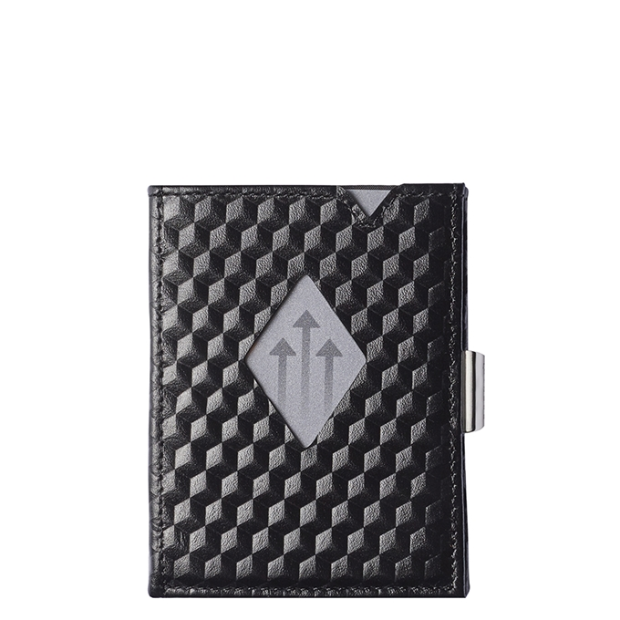 Exentri Leather Leather Wallet black cube - 1