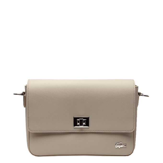 Lacoste Ladies Premium Flap Crossover Bag feather gray - 1
