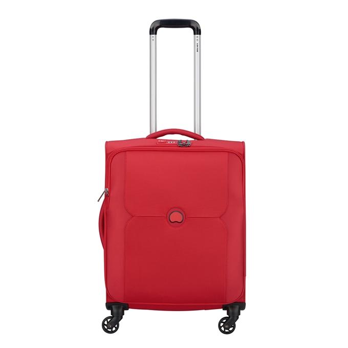 Delsey Mercure 4 Wheel Slim Cabin Trolley red - 1