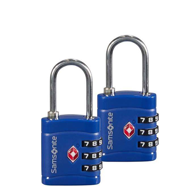 Samsonite Accessoires Combilock 3 Dial TSA X2 midnight blue