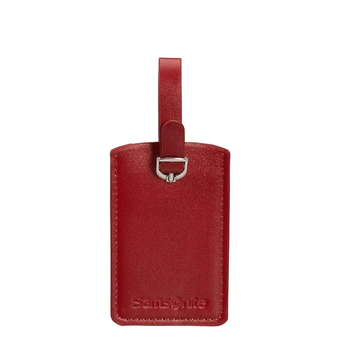 Samsonite Accessoires Rectangle Luggage Tag X2 red