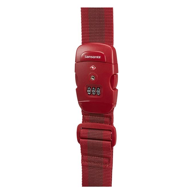 Samsonite Accessoires Luggage Strap/TSA Lock red