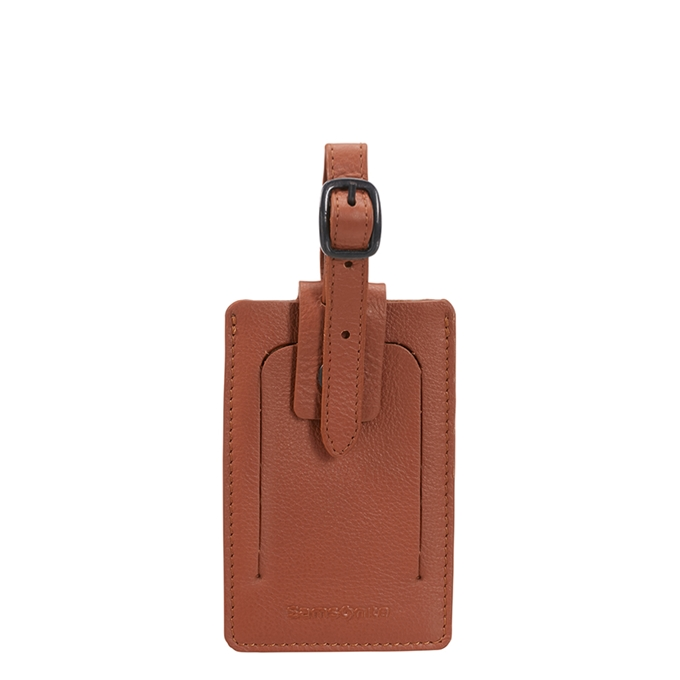 Samsonite Accessoires ID Leather Luggage Tag cognac - 1