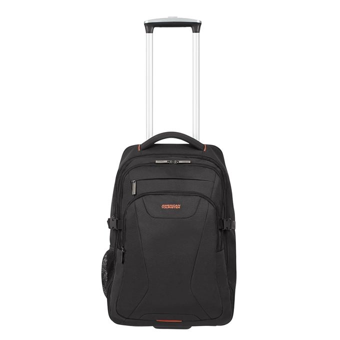 American Tourister At Work Laptop Backpack With Wheels 15.6'' black/orange