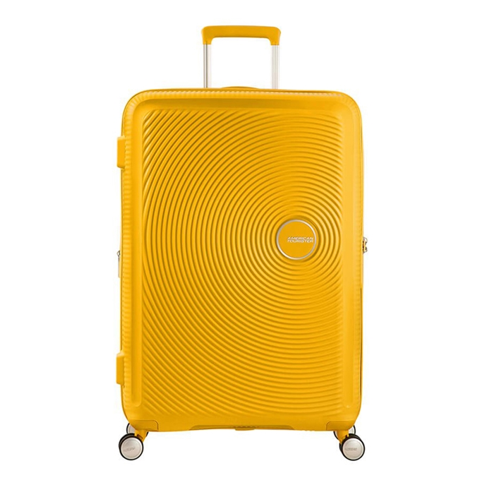 American Tourister Soundbox Spinner 77 Expandable golden yellow