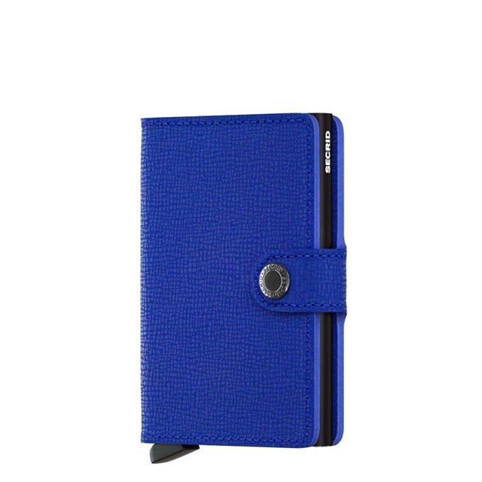 Secrid Miniwallet Portemonnee crisple blue - black - 1
