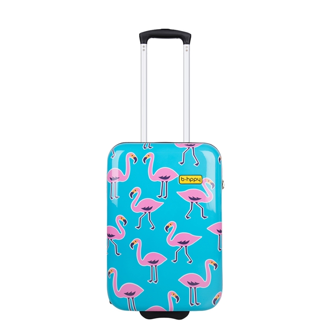 Bhppy Go Flamingo Trolley 55 blue / pink
