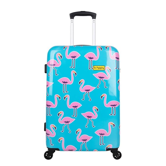 Bhppy Go Flamingo Trolley 67 blue / pink - 1